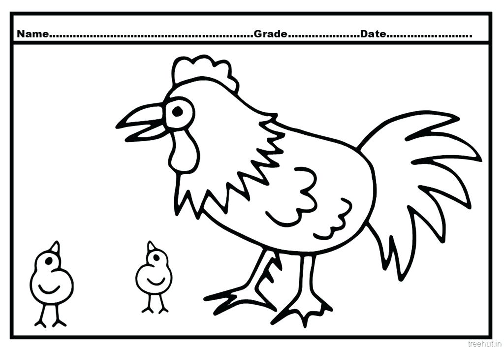 1024x709 Hen Coloring Pages Cock And Hen Coloring Pages Little Red Hen