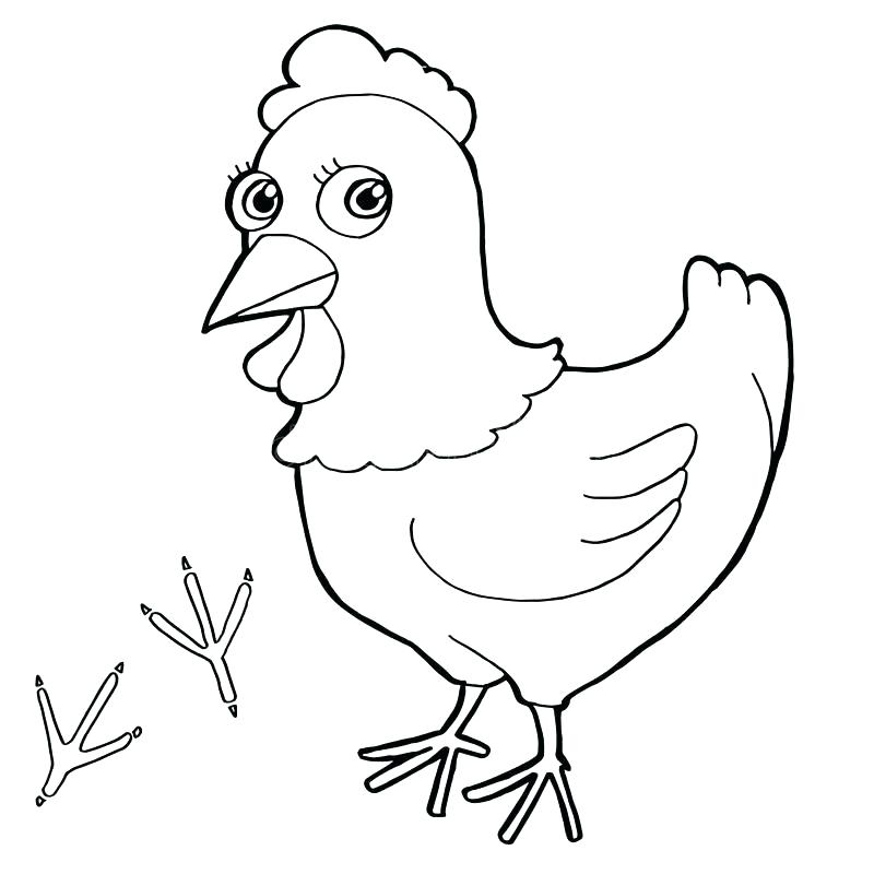 800x800 Hen Coloring Pages French Hens Coloring Page Little Red Hen