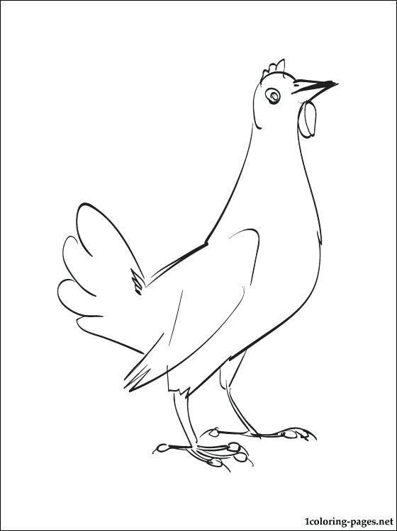560x750 Hen Coloring Pages Hen Coloring Page To Print Out Little Red Hen