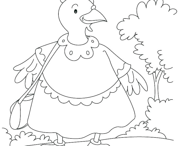 738x600 Hen Coloring Pages Little Red Hen Coloring Page Co Handas Hen
