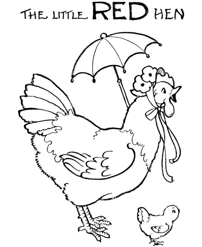 670x820 Little Red Hen Colouring Pages Free Kid Stuff