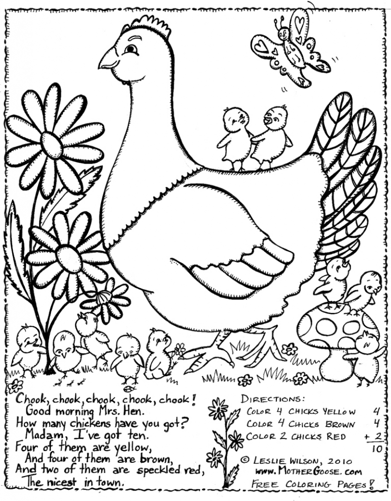 799x1024 Greatest Little Red Hen Coloring Page Amazing Free Printable