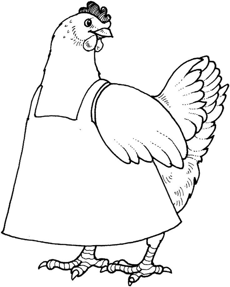 736x919 The Little Red Hen Coloring Pages Habit Put First Things