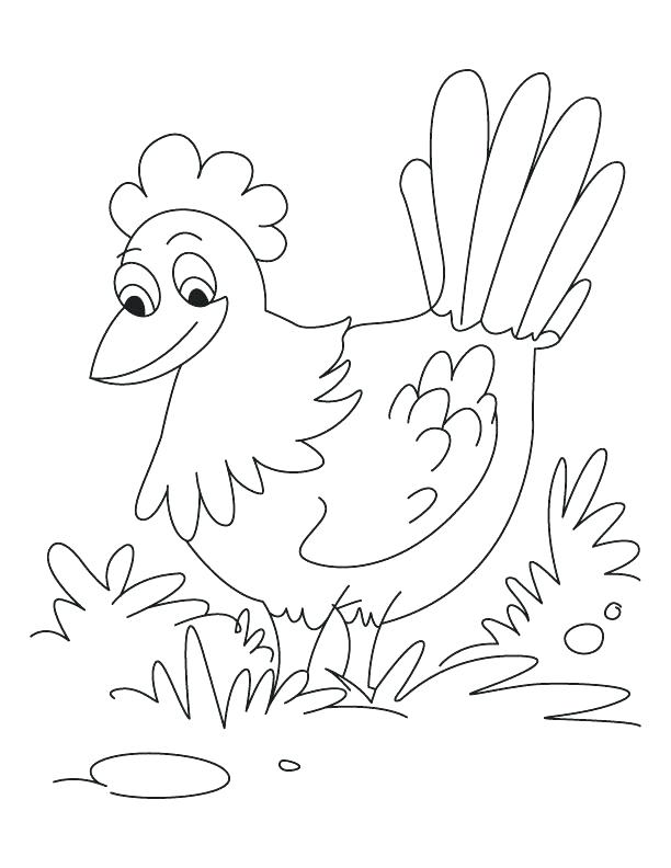 612x792 Little Red Hen Coloring Pages Hen Coloring Page Hen Coloring Page