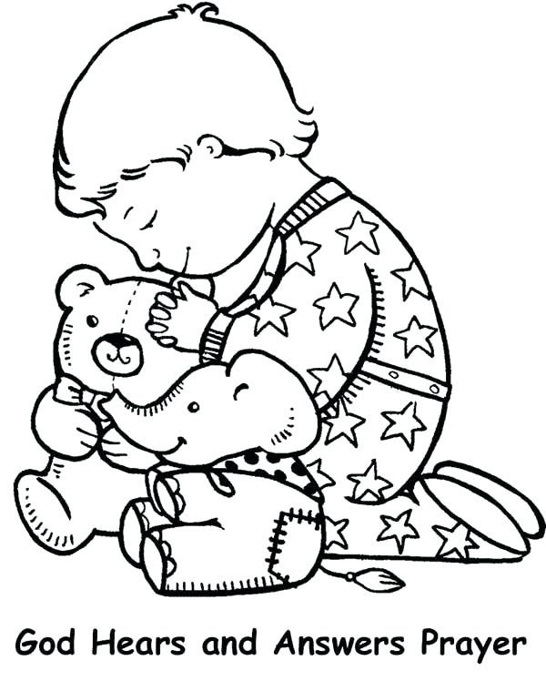 600x748 New Prayer Coloring Pages To Print For Lords Prayer Lords Prayer