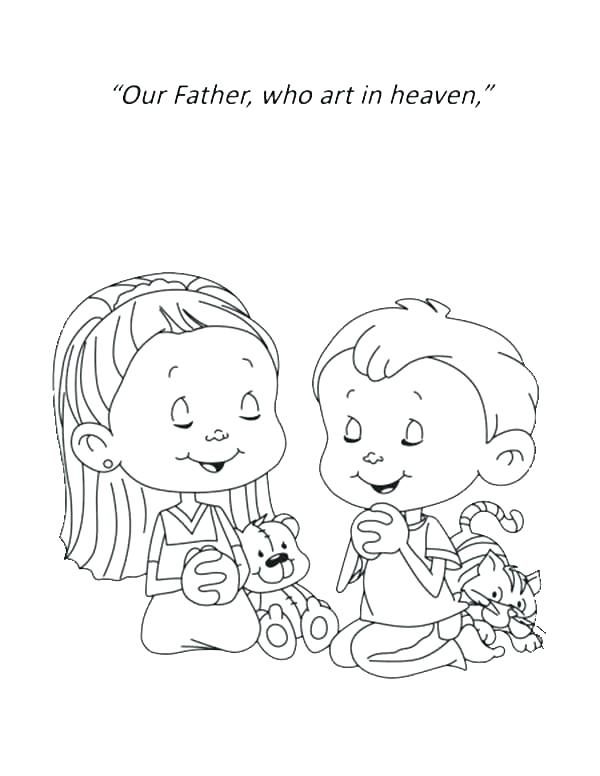 600x776 The Lords Prayer Coloring Pages As Well As Religious Coloring