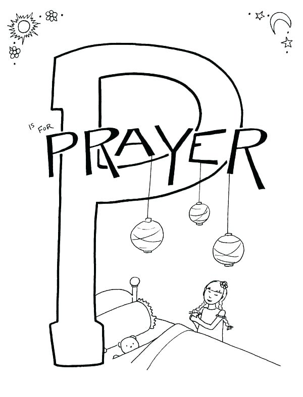 600x787 Lords Prayer Coloring Book Pages Icontent