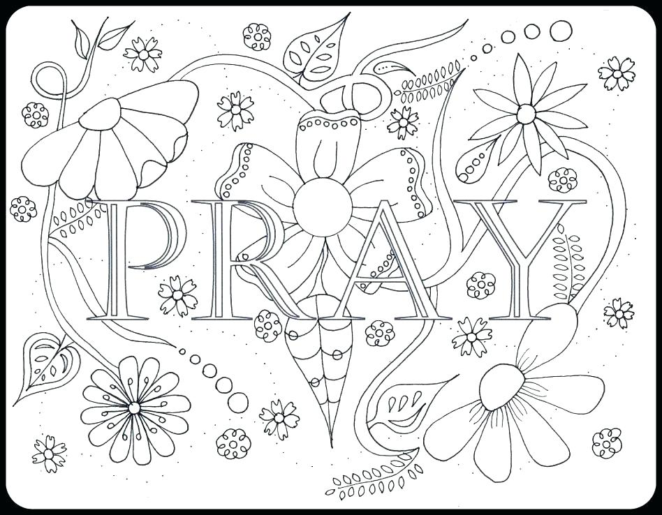 948x738 Prayer Coloring Pages