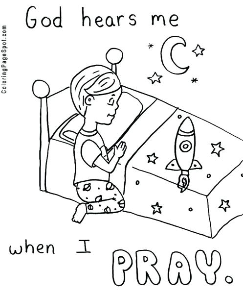 497x600 Children Praying Coloring Page Teaching Children The Lords Prayer