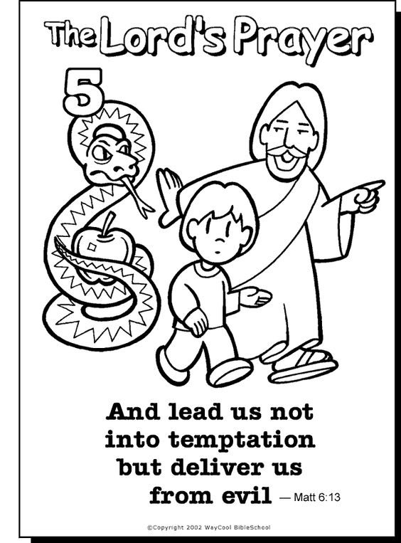 564x763 The Lord's Prayer Coloring Pages Printable
