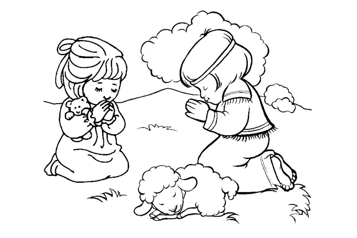 1199x800 Edge Praying Coloring Pages In New Trends With Children Page