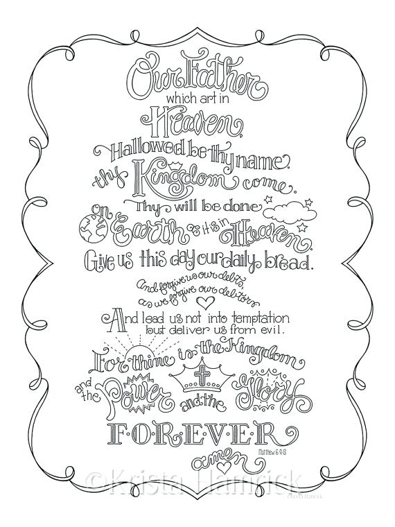 570x760 Free Prayer Coloring Pages The Lords Prayer Coloring Book Free