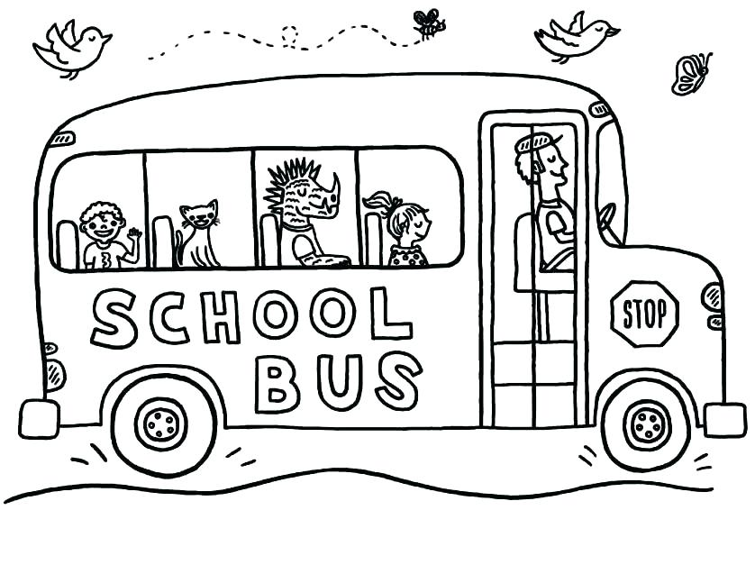 838x647 Magic School Bus Coloring Page School Bus Coloring Page The Magic