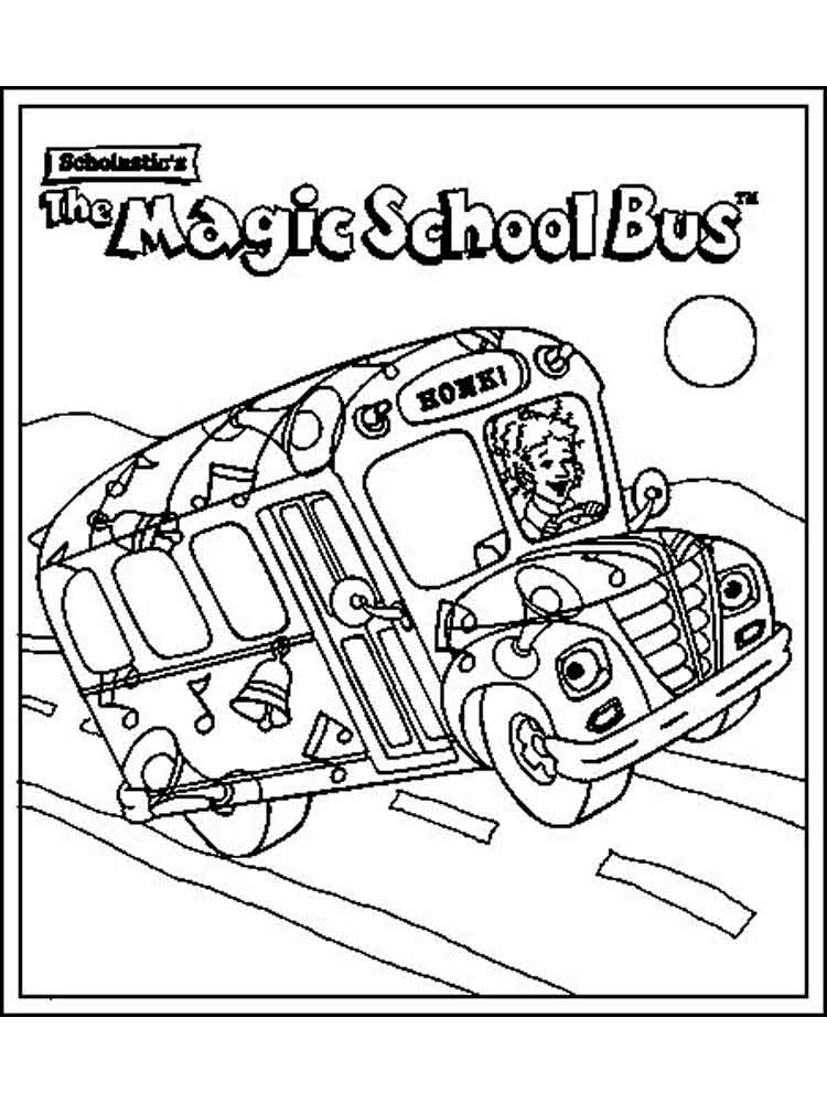 750x1000 Magic School Bus Coloring Pages Free Printable Magic School Bus