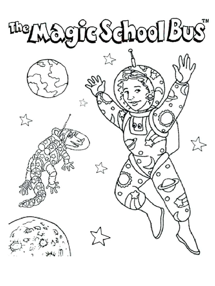 750x1000 Magic School Bus Coloring Page Magic School Bus Coloring Pages