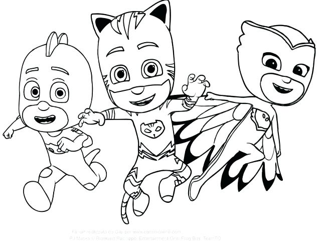 640x480 Mask Coloring Pages Pictures To Color And Print Mobile Pj Masks