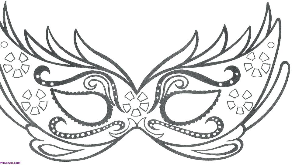 960x544 Mask Coloring Pages Underdog Coloring Pages Butterfly Mask