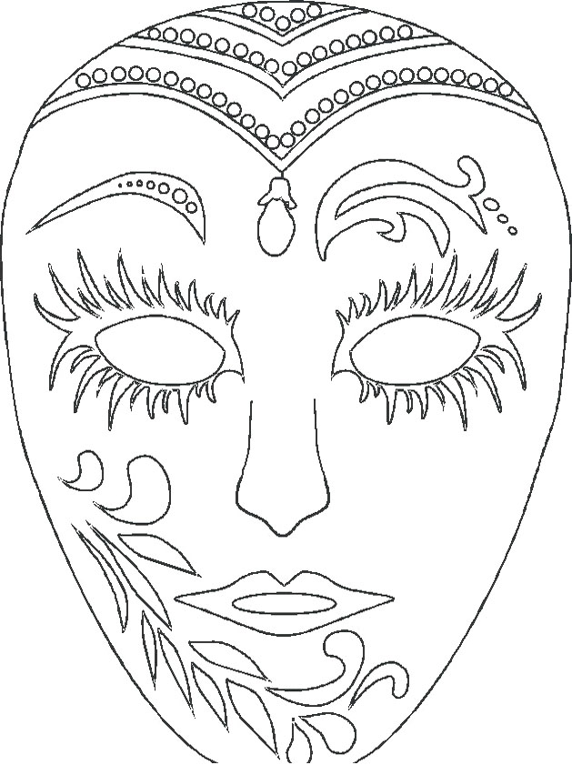 629x841 Mask Coloring Pages Wonderful Mask Coloring Pages In Line