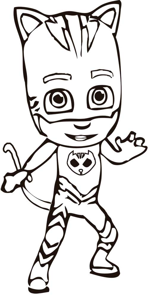 552x1000 Pj Masks Coloring Pages