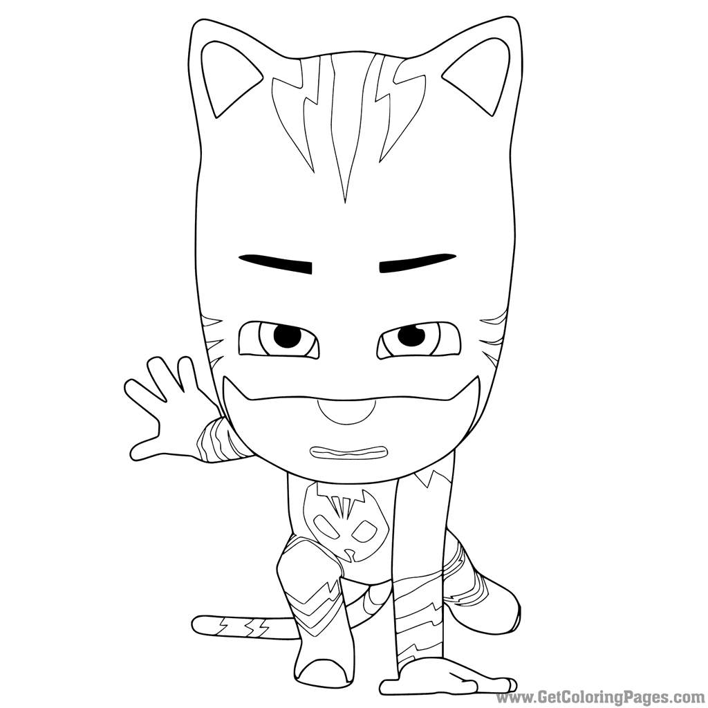 1024x1024 Pj Masks Coloring Pages