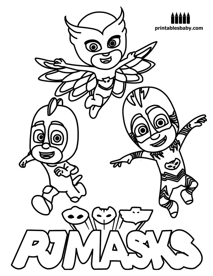 736x952 Pj Masks Coloring Pages Free