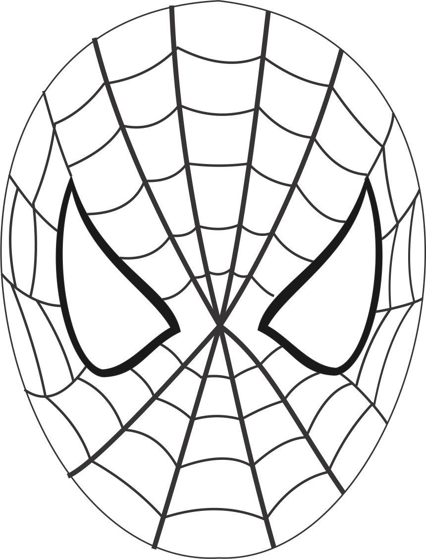860x1128 Spiderman Mask Printable Coloring Page For Kids