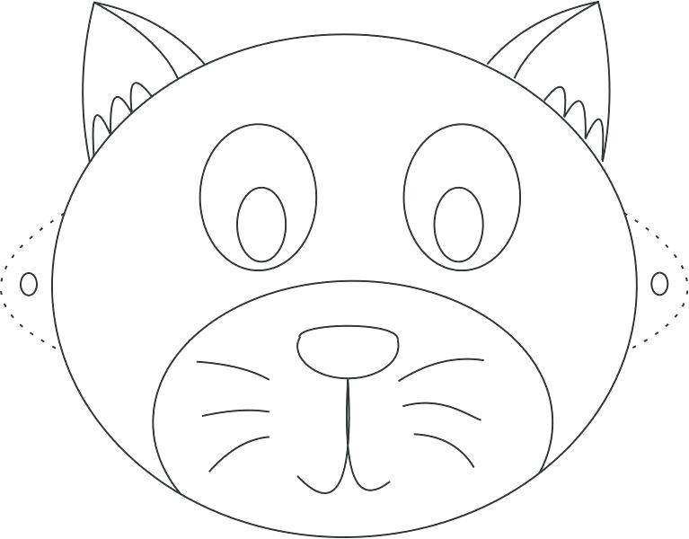 767x600 Cat Face Coloring Page Plus Cat Face Coloring Page Animal Face