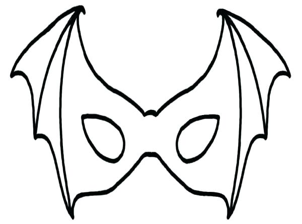600x446 Mask Coloring Page Masks Coloring Pages Mask Of Bat Coloring Page