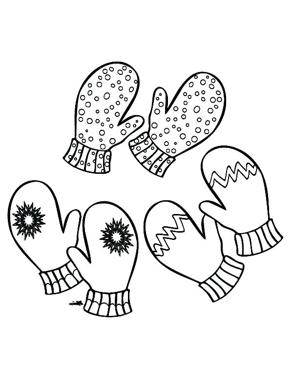 600x776 Mittens Coloring Page The Mitten Coloring Pages Mittens Three Pair