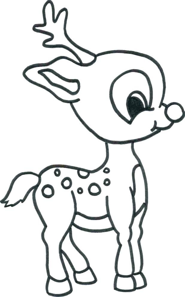 618x992 The Mitten Coloring Page The Mitten Coloring Page Baby Reindeer