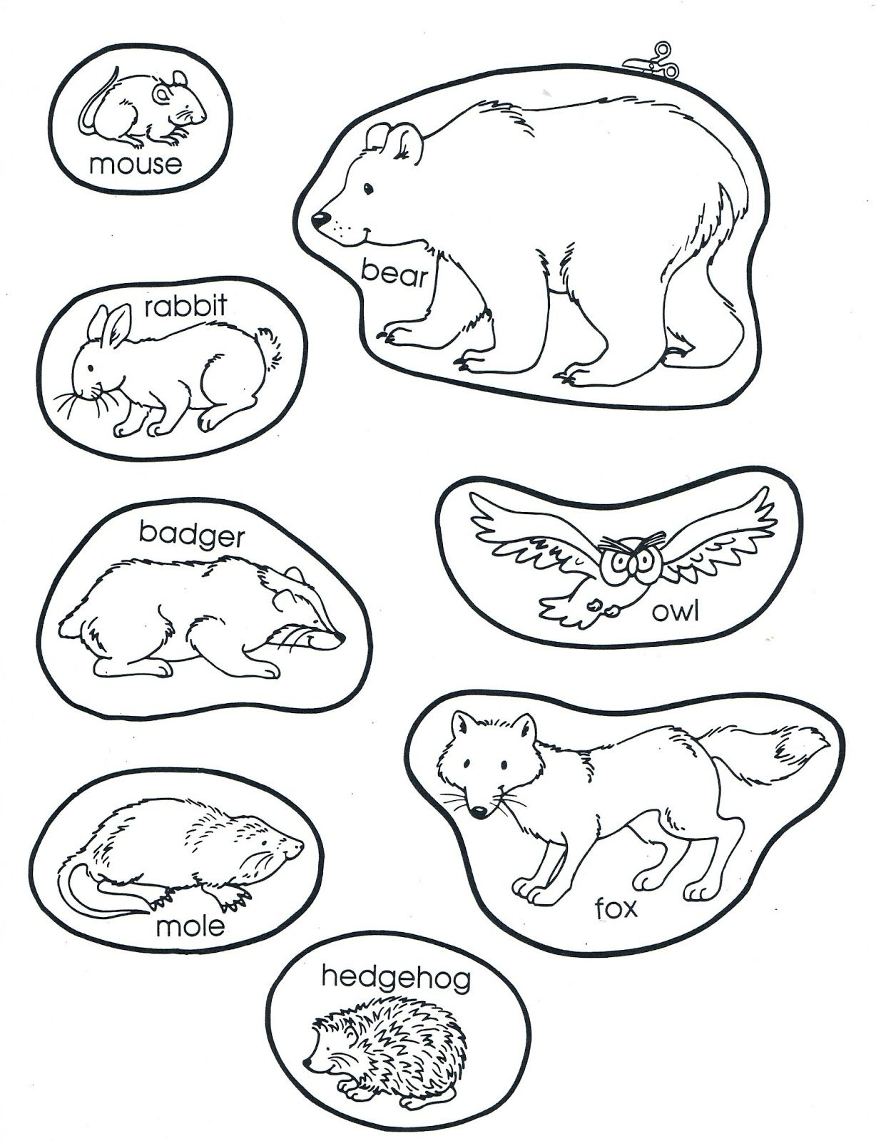 1228x1600 The Mitten Coloring Pages Collection Coloring For Kids