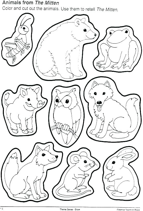 551x808 Mitten Coloring Page Pages The Teacher Planning Co