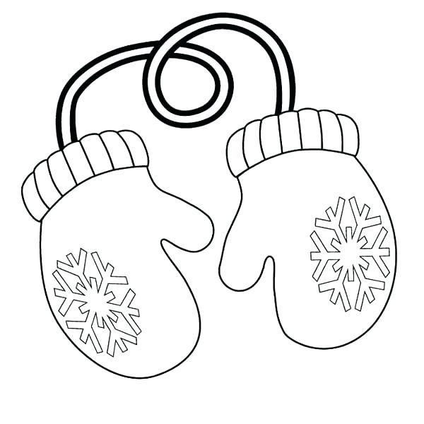600x600 Mitten Coloring Page The Mitten Coloring Pages Of Mittens Com