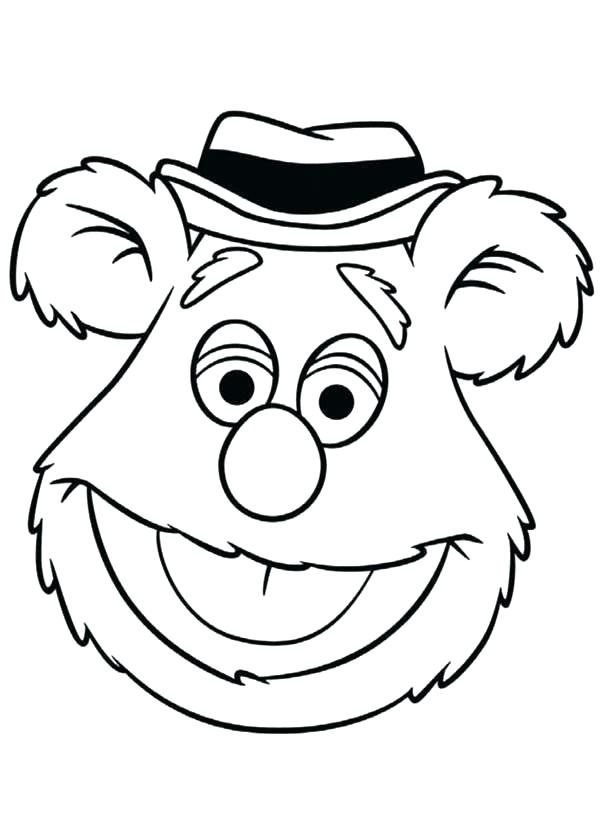 600x840 Muppet Coloring Pages Coloring Pages Drawing Head Of Bear