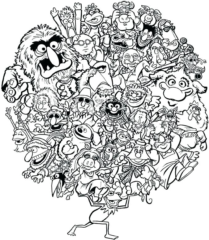 676x776 Muppet Coloring Pages Related Post Muppets Coloring Pages Print