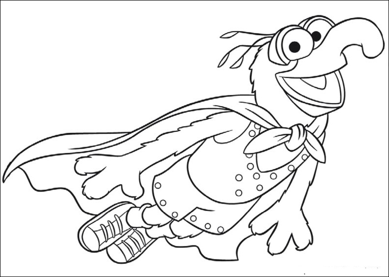 794x567 Muppets Christmas Coloring Pages