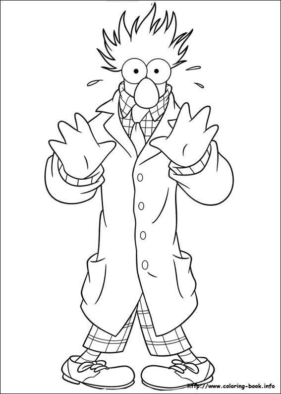 567x794 Muppets Coloring Page Free Download