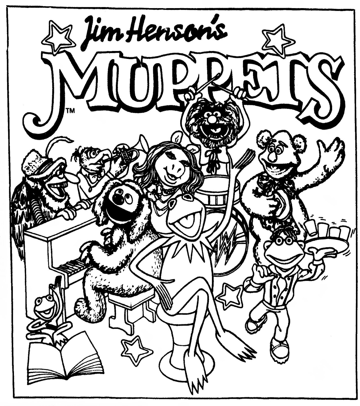 1420x1600 Muppets Coloring Pages