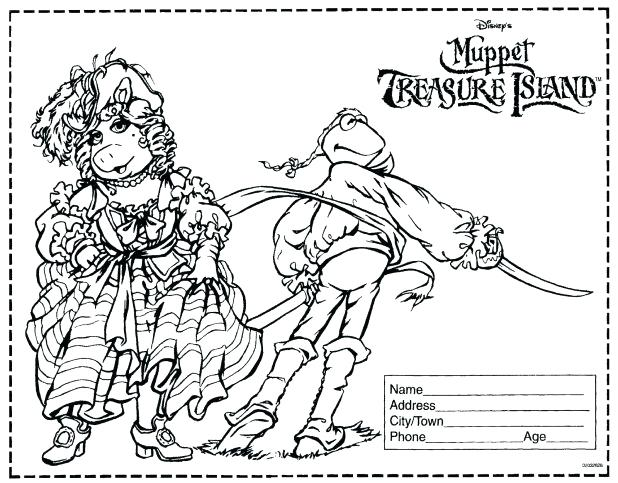 618x483 Muppets Coloring Pages Treasure Island Movie Coloring Contest