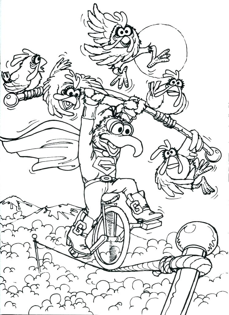 745x1024 Coloring Muppets Coloring Pages Babies Print Free Animal
