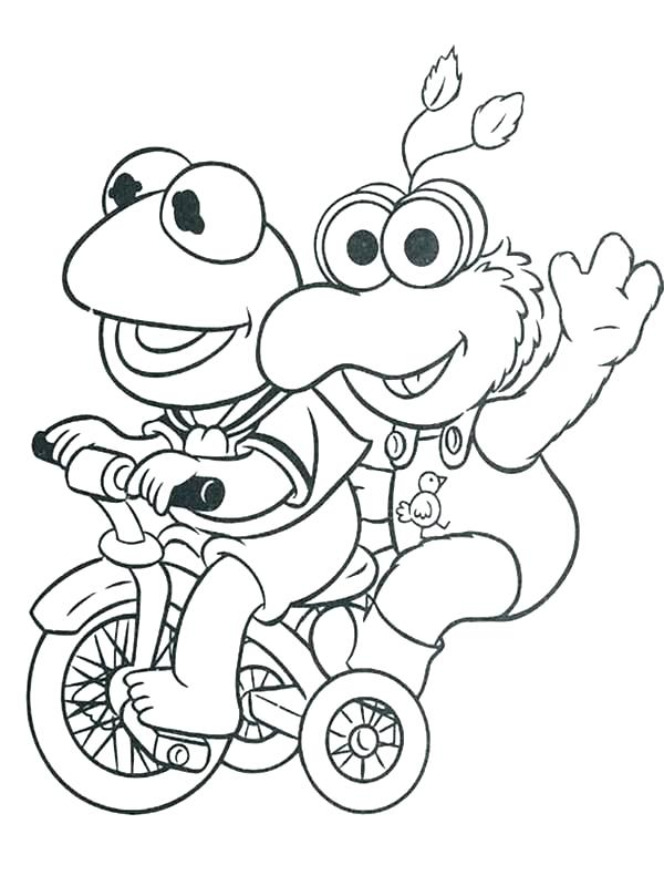600x809 Muppet Coloring Pages