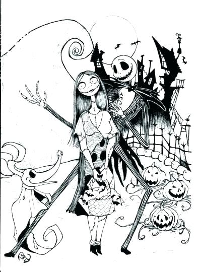 391x540 Nightmare Before Christmas Color Pages Mare Nightmare Before