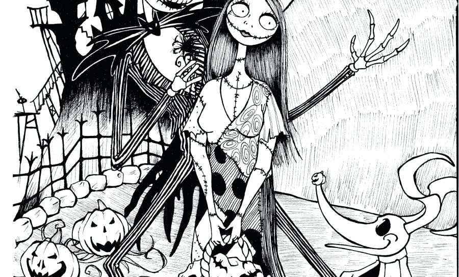 900x544 Nightmare Before Christmas Color Pages Nightmare Before Coloring