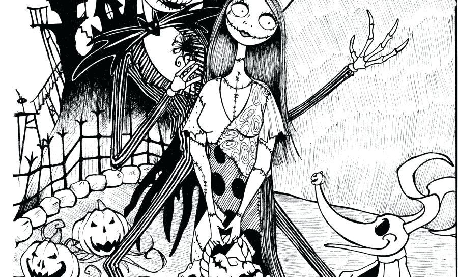 Jack Skellington Coloring Pages - GetColoringPages.com | 544x900