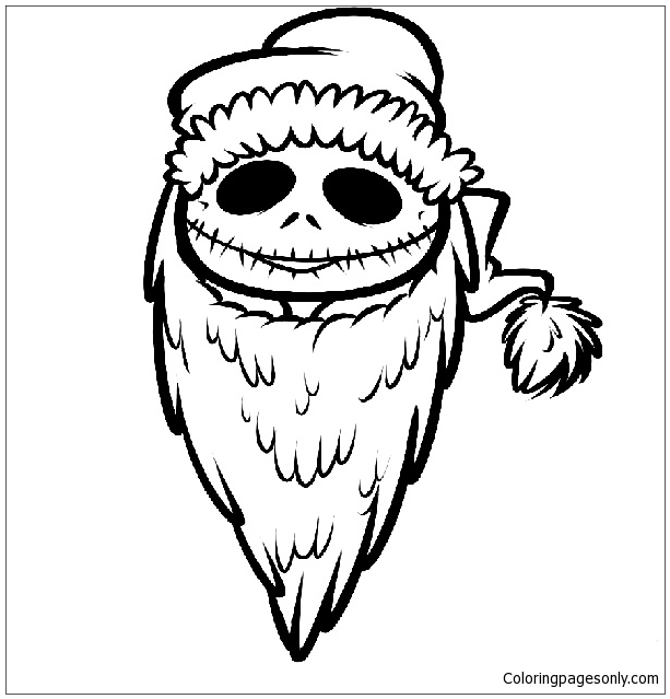 613x639 Nightmare Before Christmas Coloring Page