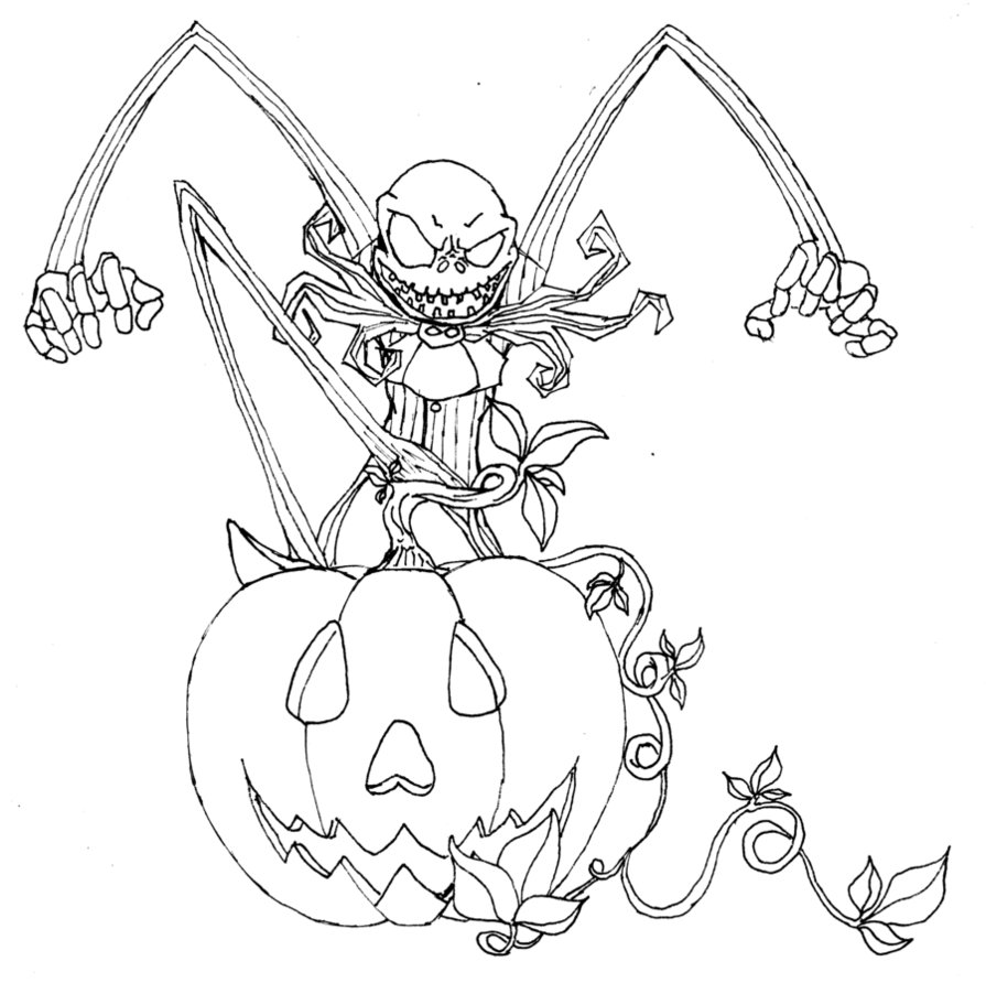 895x892 Nightmare Before Christmas Halloween Coloring Pages