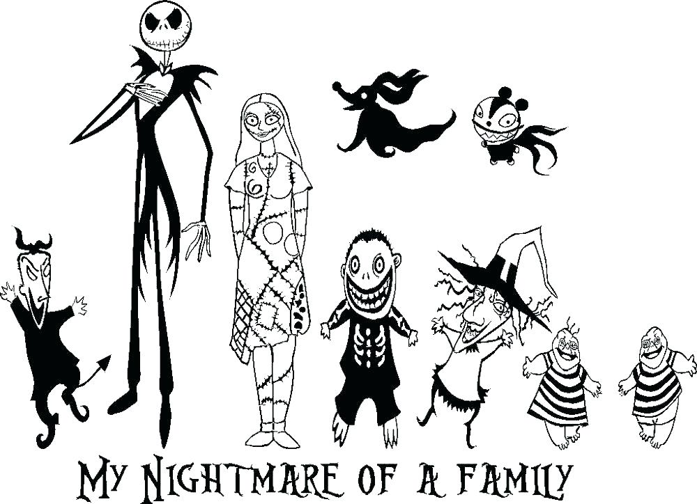 1000x724 Nightmare Before Christmas Coloring Page