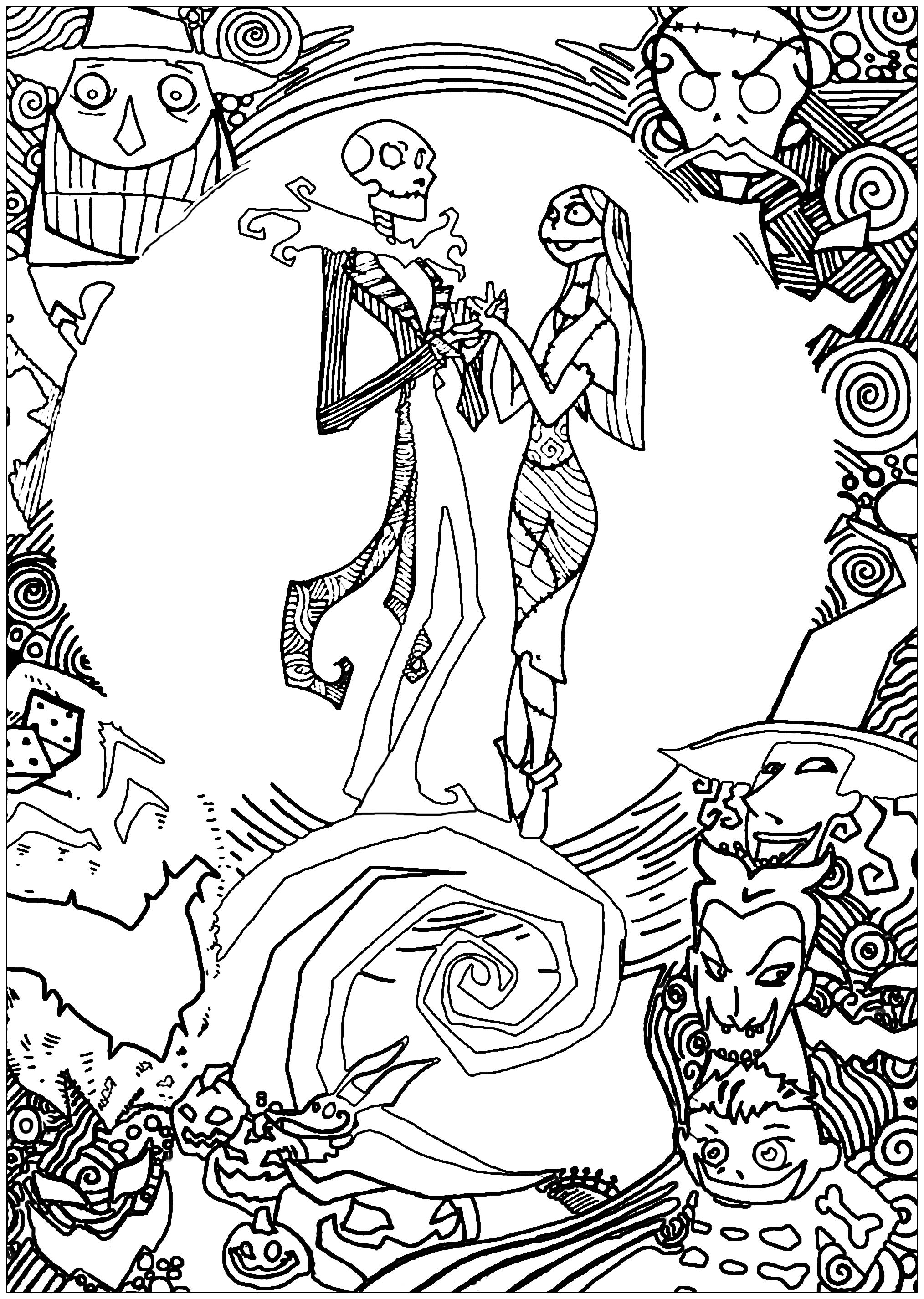 2028x2852 Nighmare Before Christmas With Sully Coloring Pages Throughout