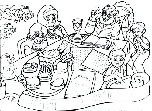 500x364 Passover Coloring Page Coloring Coloring Pages Passover Coloring