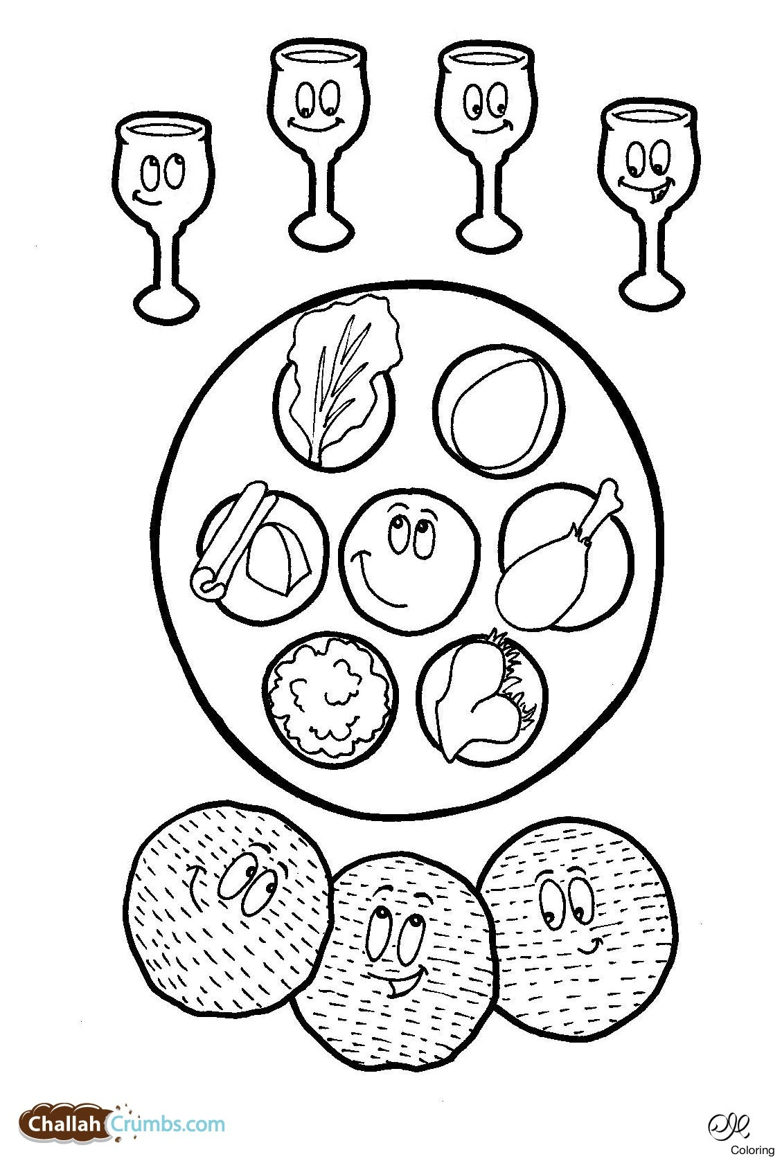 1129x1677 Passover Coloring Pages Images About Seder Plate Bbdabedede Adult